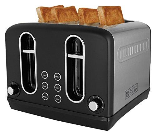 BLACK+DECKER BXTO0401IN 2300-Watt 4 Slice Pop-up Toaster (Grey)