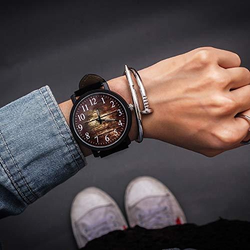 ZJZ Orologio di Modo delle Donne Orologio da Donna Orologi del Quarzo for Ore Donna dell'orologio Femminili Grande quadrante (Color : Black)