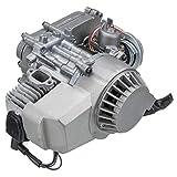 47CC 49cc Manual Pull Start Carburetor Bobina de engranajes Caja de engranaje Filtro de aire para Mini Moto Dirt Bike Quad ATV SIVER (Color : A)