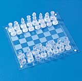 LINWEI Juego de ajedrez Juego para niños para niños Ajedrez de Cristal para Adultos International Chess Game Medium Wrestling Packaging International Chess Set Glass Board Chess Juego