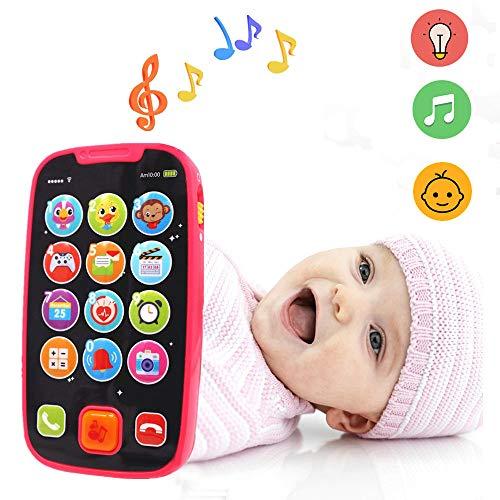Bester der welt LUKAT Lernspielzeug für Kleinkinder 12 Monate altes Smartphone-Spielzeug, Touchscreen-Telefone…