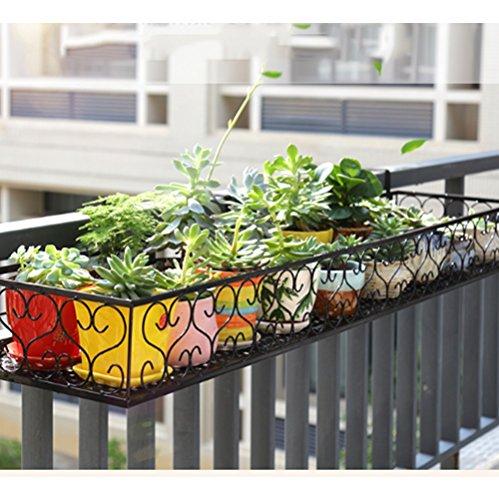 Cadre de Fleurs de Balcon Suspendu en Fer Cloture de Fleur Cadre Suspendu Cadre de Pot de Fleur Cadre de fenêtres recouvertes de barrières Multi-Viande (Taille : 50cm)