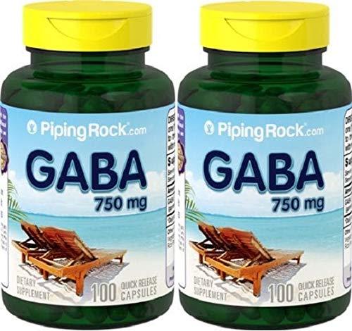 2 GABA (ácido gama aminobutírico), 750 mg, 100 Cápsulas