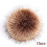 JIACUO 12pcs 10cm Faux Fuchspelz Pom Pom Ball mit Gummiband