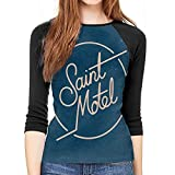 light Saber DUN Saint Motel - Camiseta de béisbol con mangas 3/4 para mujer, cuello redondo, para mujer, estilo informal, manga 3/4, 1, XL