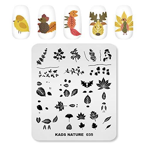 Alexnailart Nagel Stamping Platten Bild Vorlage Natur Pflanze Blatt Muster Design Stampfer DIY Druck Maniküre Nail Art Schablonen Werkzeuge