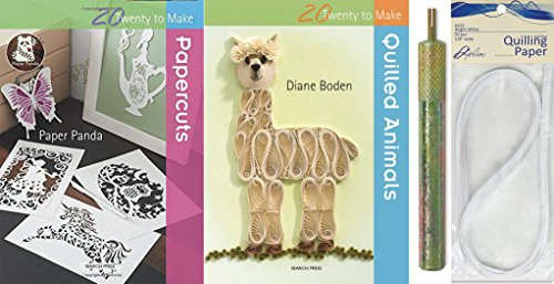 Quilling Pack - book Paper & art Tool - Quilled Animals & Cut Paper Techniques + Strips & quilling tool