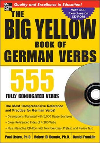 The Big Yellow Book of German Verbs (Book w/CD-ROM): 555 Fully Conjugated Verbs (Big Book of Verbs)