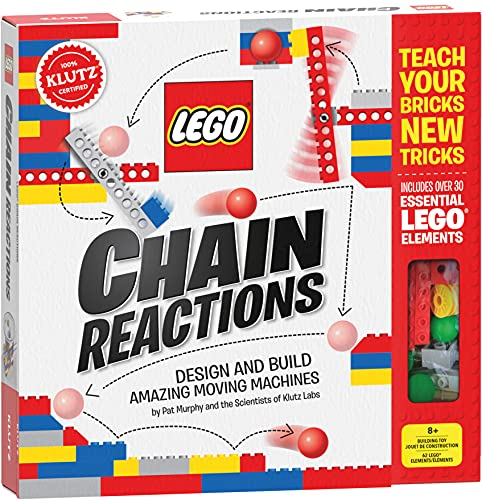 """LEGO Chain Reactions (Klutz Science/STEM Activity Kit), 9"""" Length x 1.06"""" Width x 10"""" Height"""