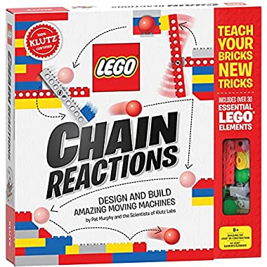 LEGO Chain Reactions (Klutz Science/STEM Activity Kit), 9″ Length x 1.06″ Width x 10″ Height