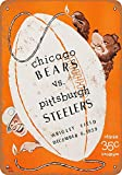 Forry Chicago Bears vs. Pittsburgh Steelers Metall Poster