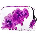 Bolsa de maquillaje de dibujos animados bolsa de cosméticos impresa artículos de tocador de viaje bolsas de cosméticos para mujeres fuegos artificiales