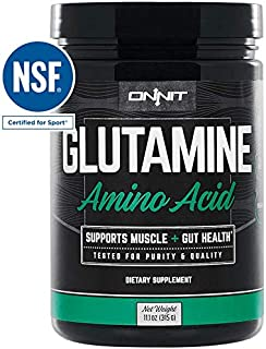 Onnit Glutamine | Boosts Aerobic Performance, Reaction Time and Gut Health | NSF Certified for Sport | 60 Servings (Unflavored)