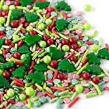 Sweets Indeed Sprinklefetti Christmas Tree Sprinkle Mix - Christmas Sprinkles for Baking - Holiday Cupcake and Cake Topper - 6.5 ounce