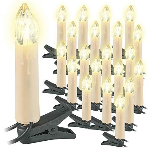 Guirlande de 20 bougies à LED pour sapin de Noël [Lunartec]
