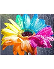 Decdeal Diamond Painting Rainy Color Flower Handmade Full Drill Home DIY Wall Art Decor Gift