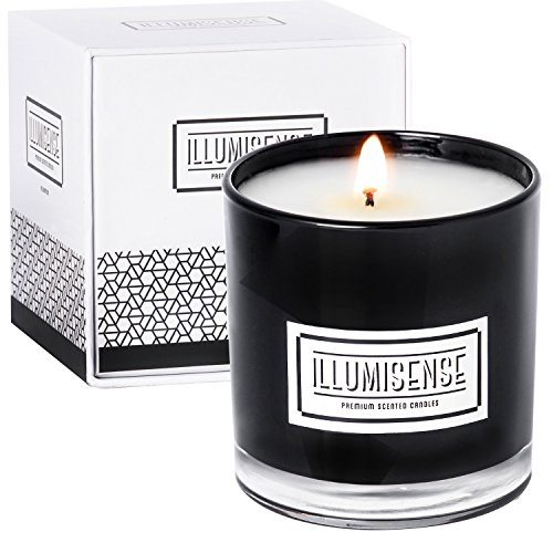 Premium Soy Candles Scented 9 oz, Black Luxury Candles for Home Decor, Amber Bergamot Candle, Sage Vanilla Fragrance, Long Lasting up to 80 Hours Burn, 100% Natural Single Wick Soot-Free, Box Included