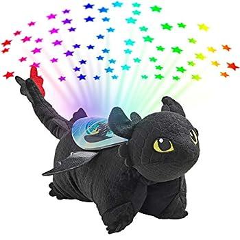 Pillow Pets NBC Universal How to Train Your Dragon Toothless Sleeptime Lite 11  Stuffed Animal Plush Toy  Rainbow