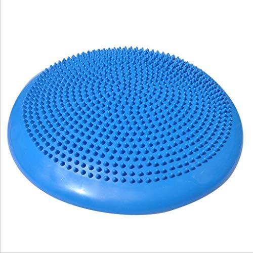TangMengYun Barbed Massage Fitness Balance Matte Yoga Pilates Stuhl PVC Massage Aufblasbares Kissen (Color : Blue)