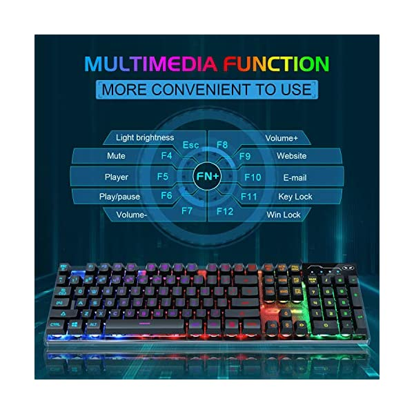 Gaming Keyboard And Mouse Combo K1 Led Rainbow Backlit Keyboard With 104 Key Computer Pc Gaming Keyboard For Pclaptop