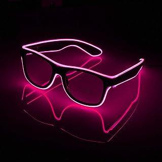 3b5fd9f36 AOLVO Gafas de Sol Luminosas LED, Gafas de Sol Brillantes, Gafas de Alambre  EL