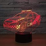 BFMBCHDJ Auto 3D USB LED Nachtlicht 7 Farben Illusion Lampe Touch oder Fernbedienung Kinder Schlafzimmer Lampe