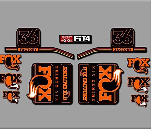 Ecoshirt CP-6719-RYH2 Aufkleber Gabel Fox 36 R287 Stickers Aufkleber Decals Autocollants Adesivi, orange