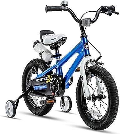 RoyalBaby Freestyle - Bicicleta infantil para niños y niñas, 12, 14, 16 pulgadas con ruedas de entrenamiento, 16, 18, 20 pulgadas con soporte, en varios colores