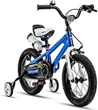 RoyalBaby Kids Bike Boys Girls Freestyle BMX Bicycle with Training Wheels Gifts for Children Bikes 14 Inch Blue