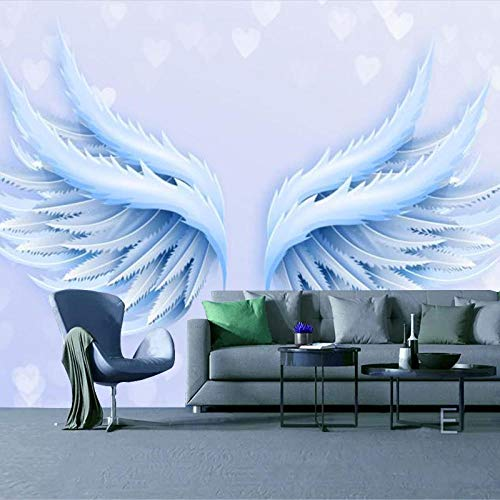 RTYUIHN 3D Wallpaper Mural Blue Wings School Classroom Music Studio Bedroom Living Room Modern Wall Art Decoration
