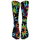 ouyjian Long Dress Socks Cotton Chameleon Reptile Painting Athletic Comfortable Breathable Over-The-Calf Tube 50cm(19.6 Inch)