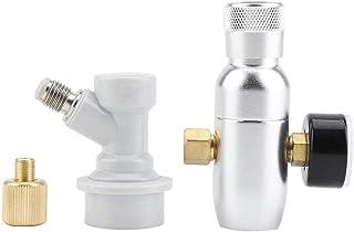 レギュレーターCO2 チャージャーキット ビール気圧弁 CO2調節可能 GAS切断コネクタ コンパクト式 シングルビールサーバー ビアサーバー改装 炭酸ガス用気圧弁(0-60PSI)