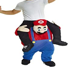 Mario Carry Mascot Costume Ride On Me Halloween Christmas Party Fancy Dress