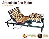 Naturconfort Somier Articulado Eléctrico, Madera, 135x190