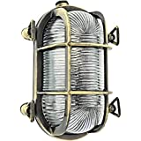 Gloria Paratía lámpara de pared ovalada a la luz de la lámpara a prueba de agua Marino industrial náutico interior o exterior o el uso de barcos