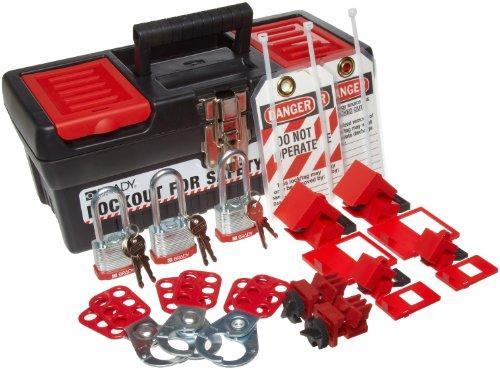 Brady Personal Breaker Lockout Toolbox Kit, Includes 3 Steel Padlocks