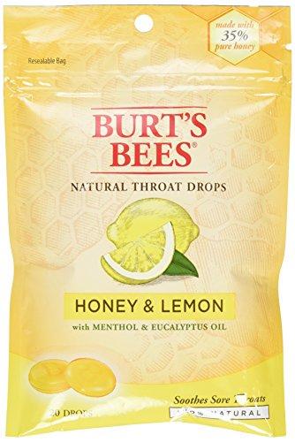 Burt's Bees Burt's Bees Natural Throat Drops Honey and Lemon - 20 Drops,Pack of...