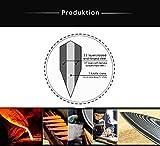 Zeuß 3er Set Küchenmesser (32 cm, 24 cm und 20cm) Damastmesser - Profimesser - 67 Schichten - Damaststahl - Santoku - Kochmesser - Chefmesser - Allzweckmesser - 5