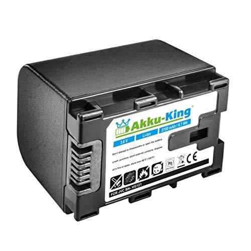 Akku-King Akku kompatibel mit JVC BN-VG121 für JVC Everio GZ-Reihe - Li-Ion 2700mAh - ersetzt auch JVC BN-VG107, JVC BN-VG114, JVC BN-VG138