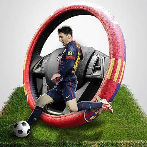 eing Car Steering Wheel Cover Football Team Universal 15 Inch Steering Wheel Cover - Barcelona Team 02