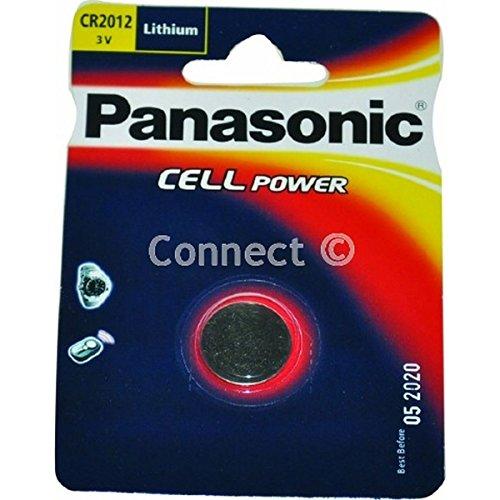 Panasonic CR2012 Knopfzelle (Panasonic Batterien, Verbrauchsartikel) DL2012 ECR2012 BR2012 280-207 DL2012B BR2012-1W CR2012-1W KCR2012 LM2012 SB-T15