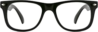 Safety Eyewear Cute Blue Square Eyeglasses Glasses with Clear Lens for Kids Boys Girls