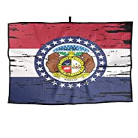 ミズーリ州の旗 ルフタオルア ウトドア活動ポータブル男性女性タオルスポーツタオル