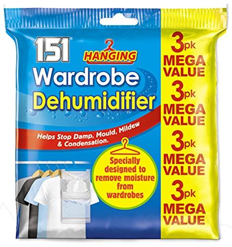 Unbekannt Kleiderschrankentfeuchter zum Aufhängen, verhindert Schimmel, Feuchtigkeit, Kondenswasser, 6 Packungen
