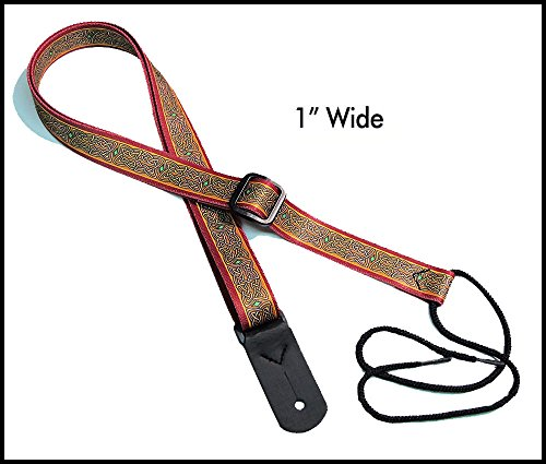 "Legacystraps 1"" Strap for A & F type Mandolin, Ukuleles and Guitars in Celtic Pride Design with 1 end tab"