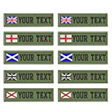 Custom Military Name Patches, Personalised Embroidered Flag Name tag for Clothing, British Name