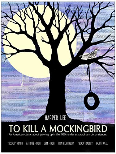 To Kill a Mockingbird by Harper Lee, Classic Novel Fine Art Literary Quote Print. Fine Art Paper, Laminated, or Framed. Multiple Sizes Available