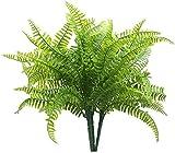 Interior al aire libre (6 piezas) Plantas artificiales helecho Boston / arbustos...