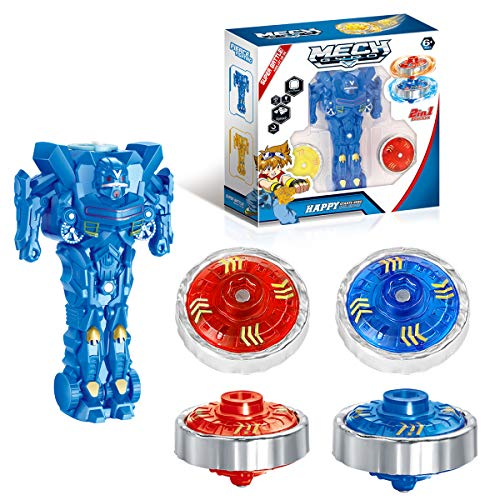 Ingooood Battling Tops Metal Fusion Gyro Toys for Kids with Robot Launcher and Arena
