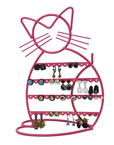 ARAD Metal Jewelry Cat, Holder Organizer-Hanging Jewelry Display for Earrings & Other Piercings